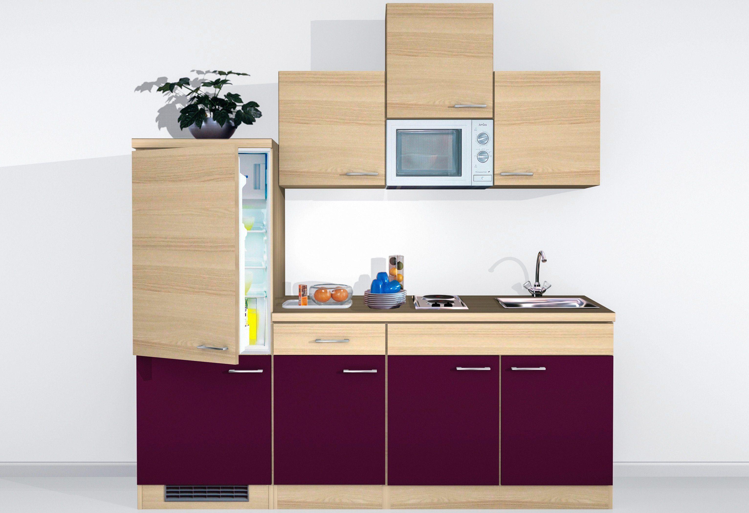Mini-Küchenzeile mit E-Geräten »Portland«, Breite 210 cm