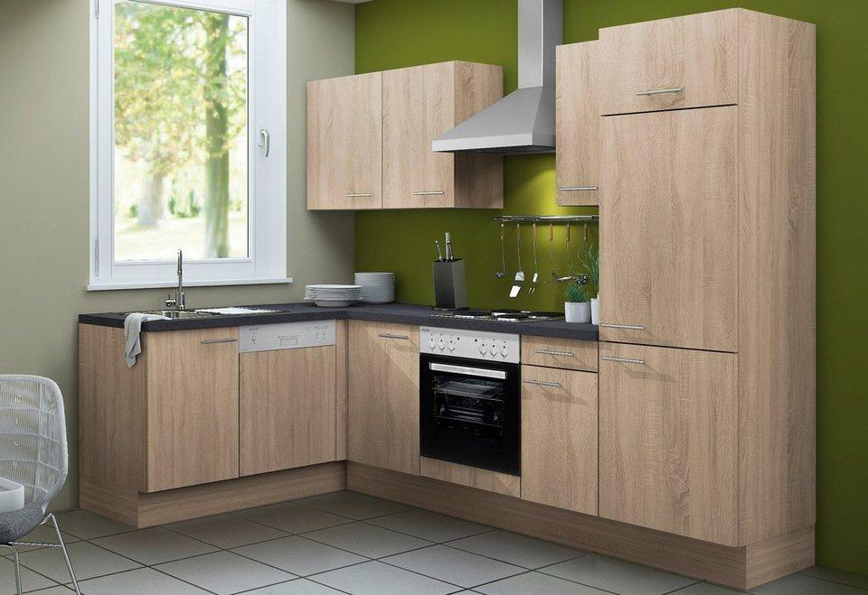 Küchenzeile ohne E-Geräte »Lasse«, Breite 270 cm - Set 2 in eichefarben sägerau