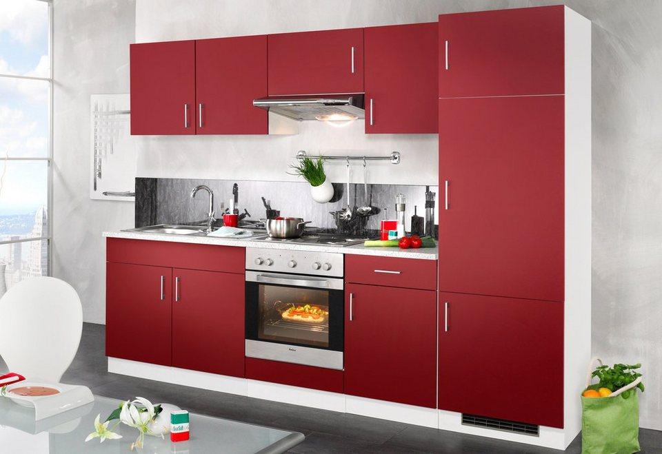 wiho k chen k chenzeile mit e ger ten valencia breite. Black Bedroom Furniture Sets. Home Design Ideas