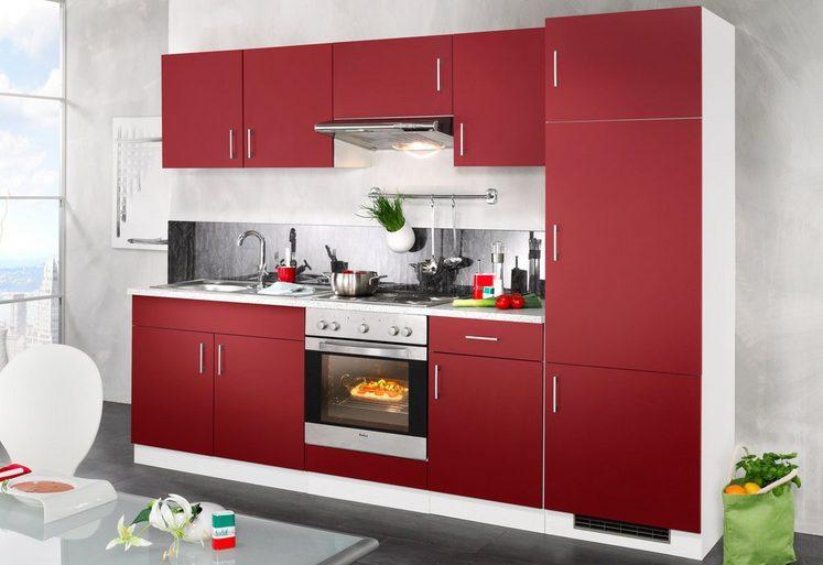 WIHO KÜCHEN Küchenzeile mit E-Geräten »Valencia«, Breite 270 cm
