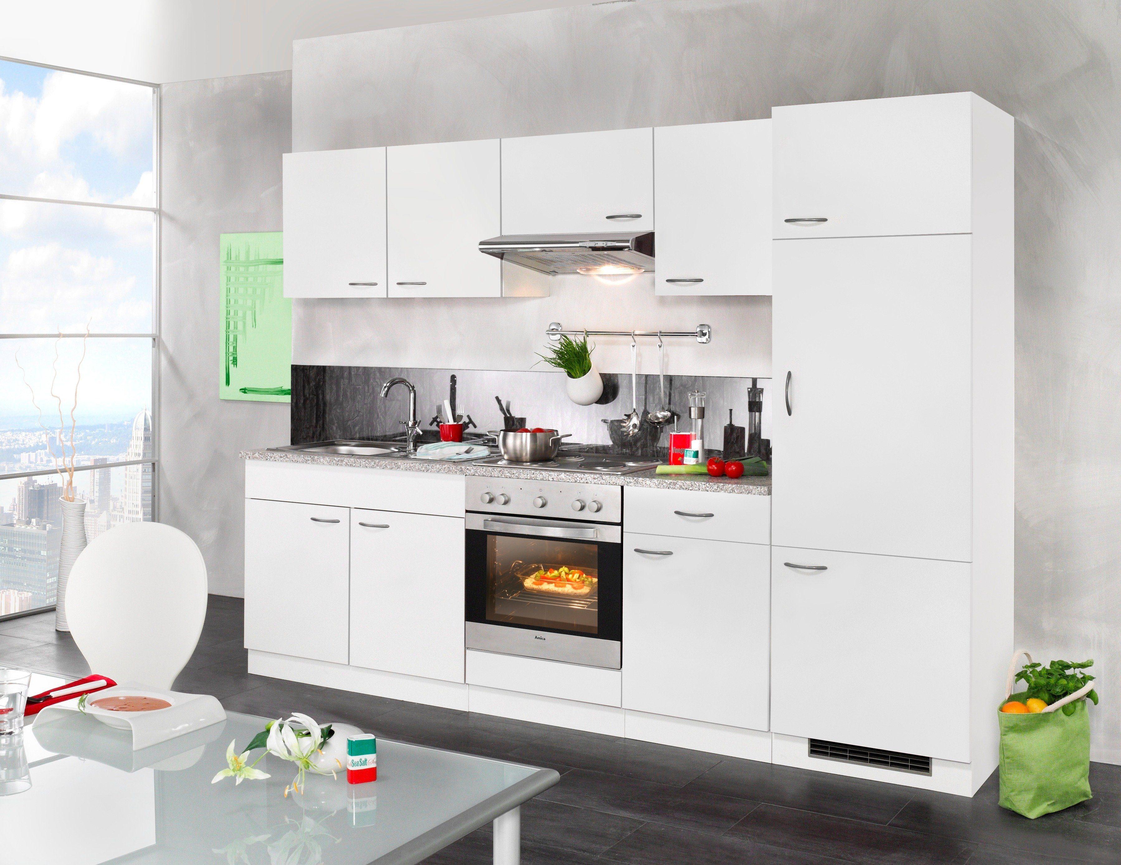 Miniküche Mit Kühlschrank 90 Cm : Küchenzeile mit geräten kaufen küchenblöcke otto