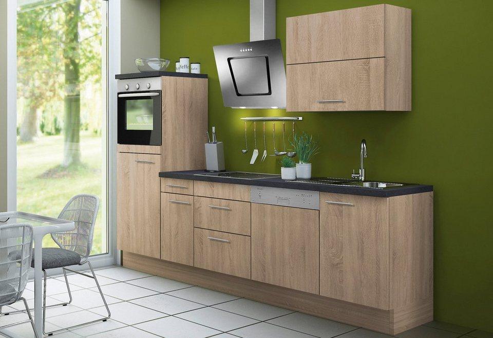 Optifit Küchenzeile ohne E-Geräte »Lasse«, Breite 270 cm - Set 1 in eichefarben sägerau