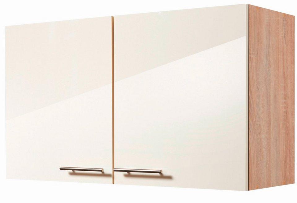 Küchenhängeschrank »Montana Glanz«, Breite 100 cm in cremefarben/eichefarben sonoma