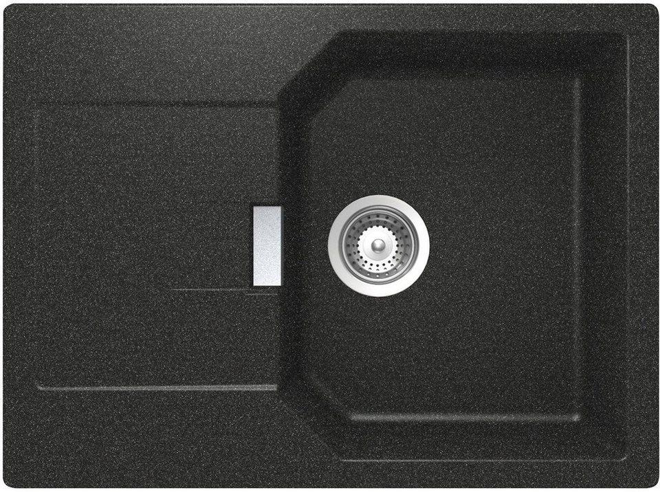 Schock Domogranitspüle »Lucca«, ohne Restebecken, 69x51 cm in schwarz