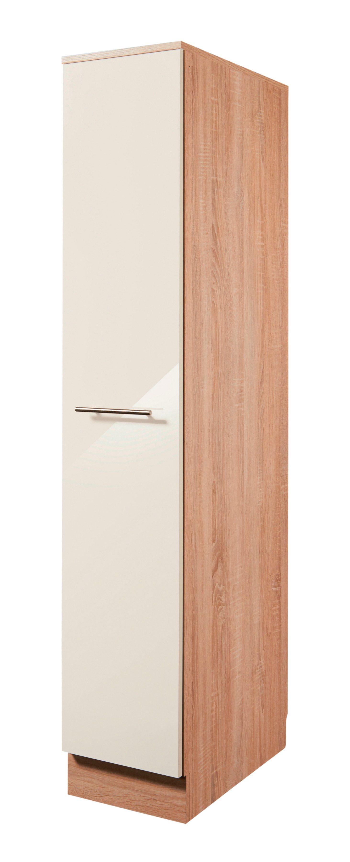 Wiho Küchen Apothekerschrank »Montana Glanz«, Höhe 165 cm | Küche und Esszimmer > Küchenschränke > Apothekerschränke | Creme | Eiche - Holzwerkstoff | wiho Küchen