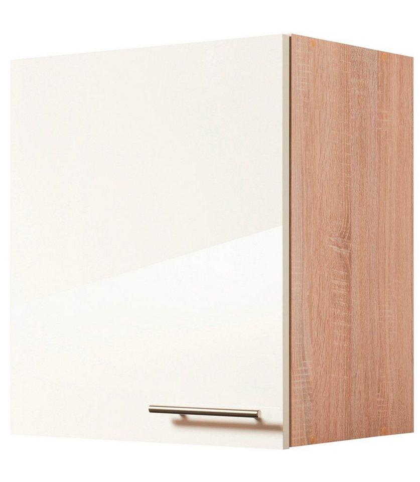 Küchenhängeschrank »Montana Glanz«, Breite 50 cm in cremefarben/eichefarben sonoma
