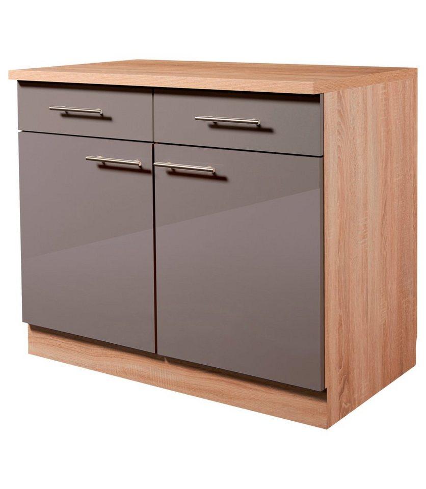 wiho küchen küchenunterschrank »montana glanz«, breite 100 cm