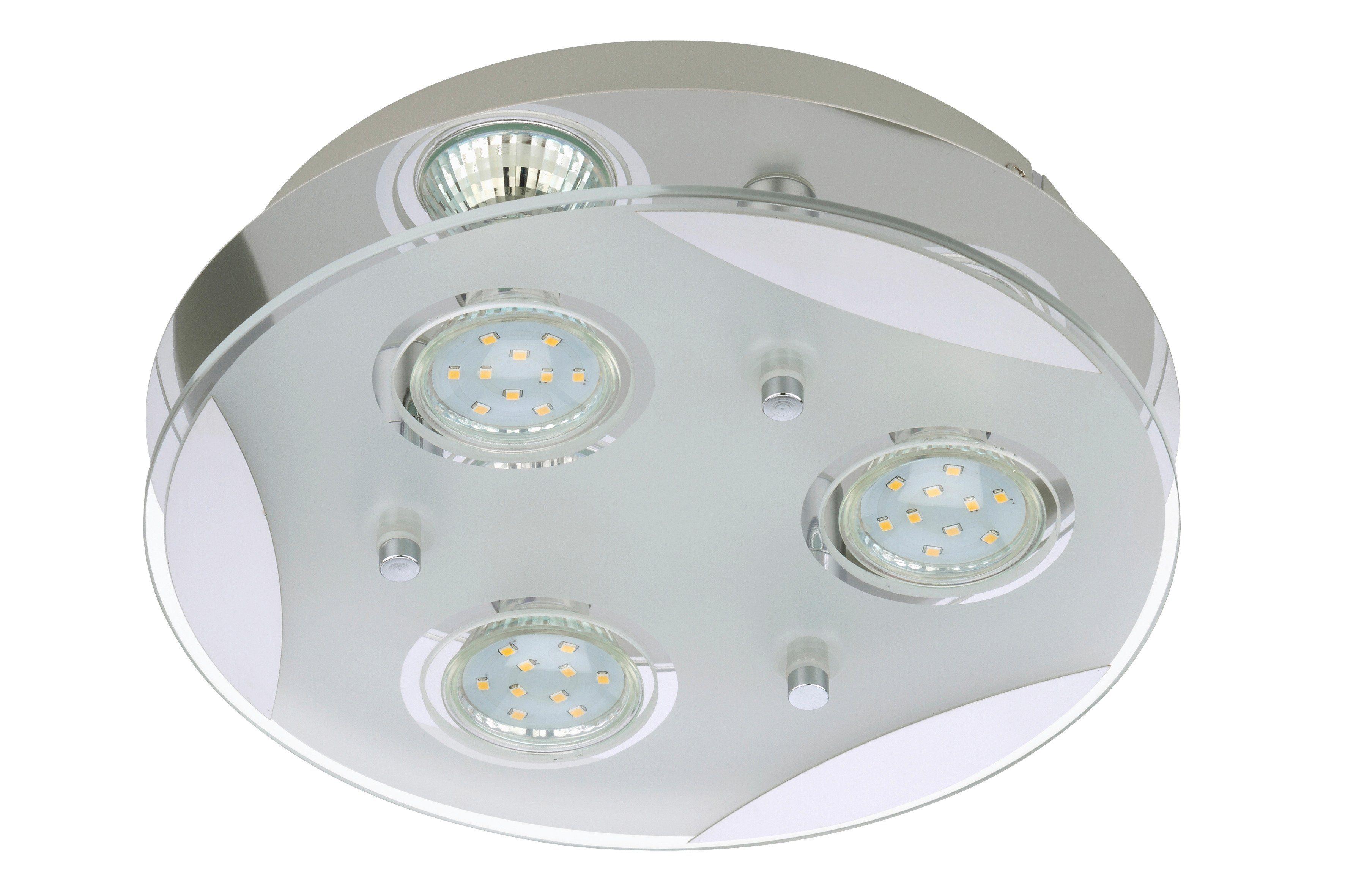 Brilliant LED Pendelleuchte Mirella Chrom//Weiß 6 x 3W G9 230V warmweiß 2800K