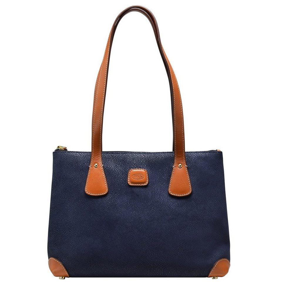 Bric's Life Giulia Shopper Tasche 31 cm in blue/tobac