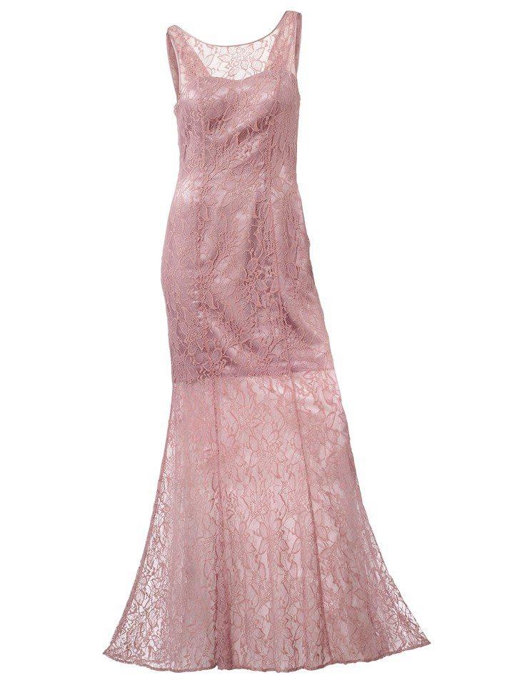 Abendkleid in rosé