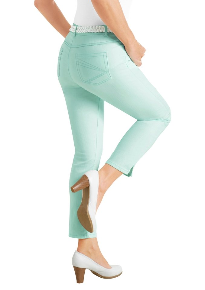 Collection L. 7/8-Hose in der beliebten 5-Pocket-Form in mint