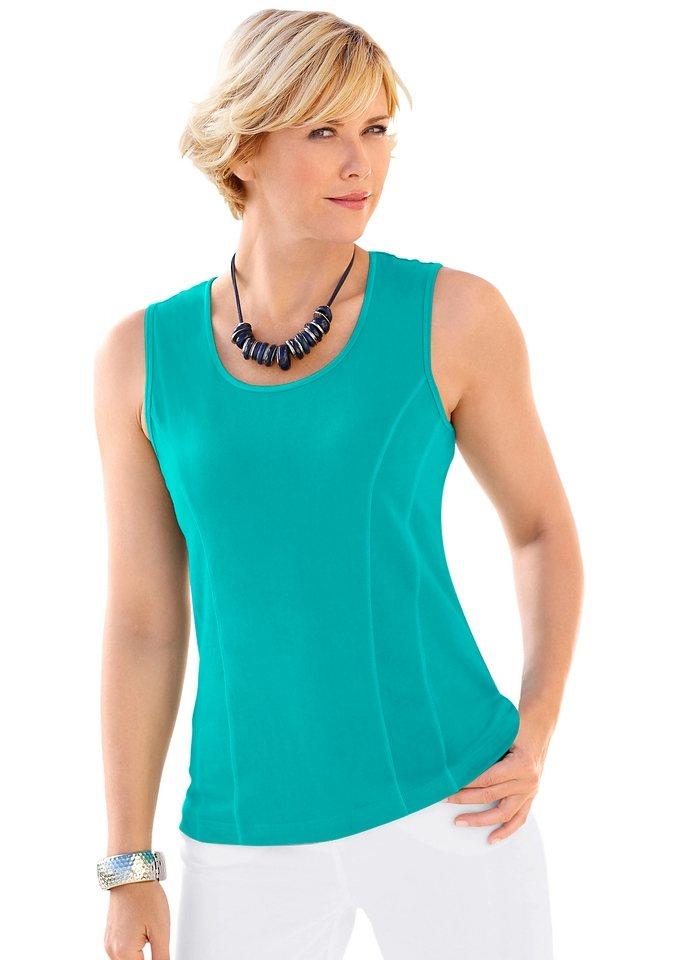 Damen Collection L. Shirttop aus reiner Baumwolle grün | 08901145305352