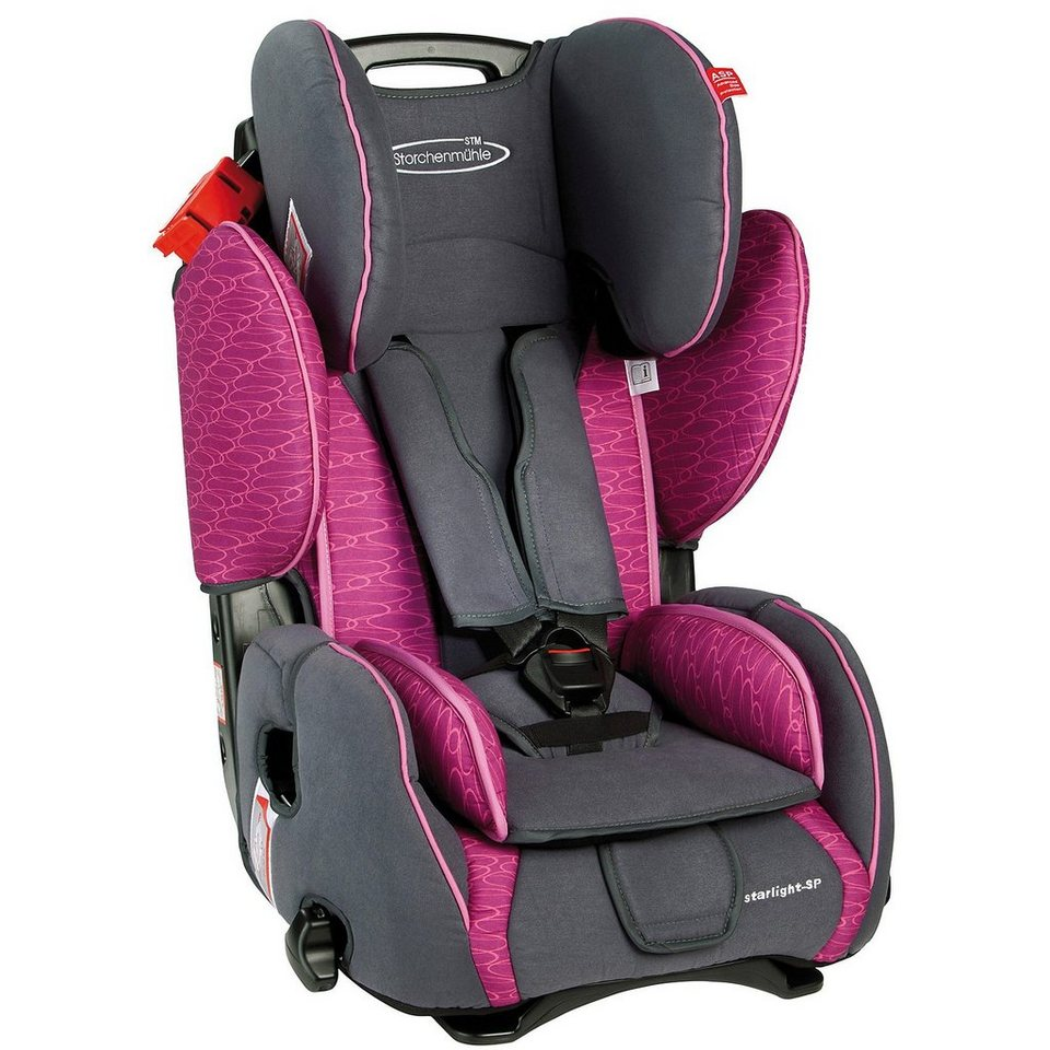 Storchenmühle Auto-Kindersitz Starlight SP, Rosy in rosa+grau
