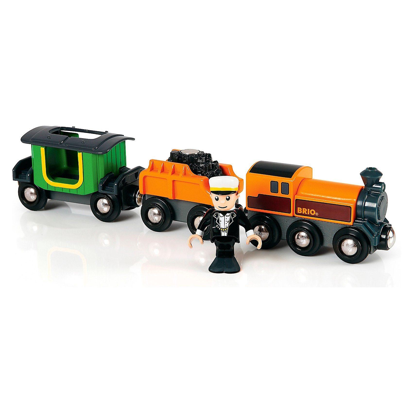 BRIO Dampflok mit Tender und Reisewagen