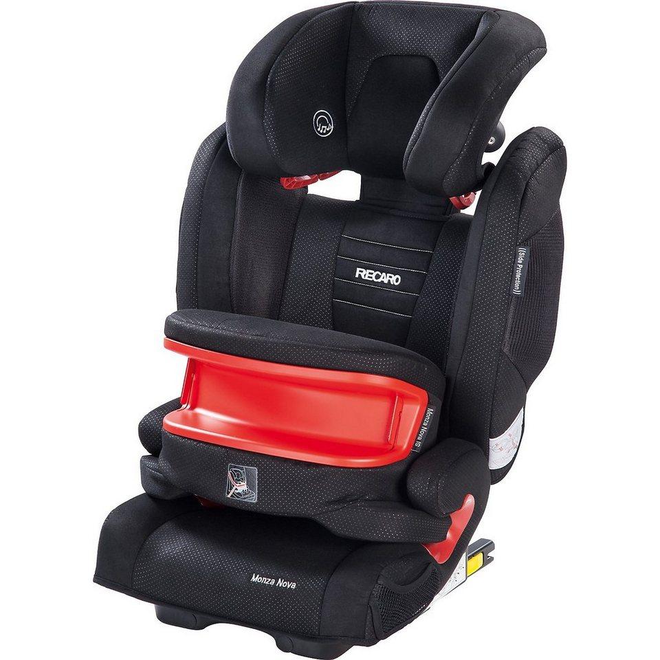 RECARO Auto-Kindersitz Monza Nova IS Seatfix, Black in schwarz