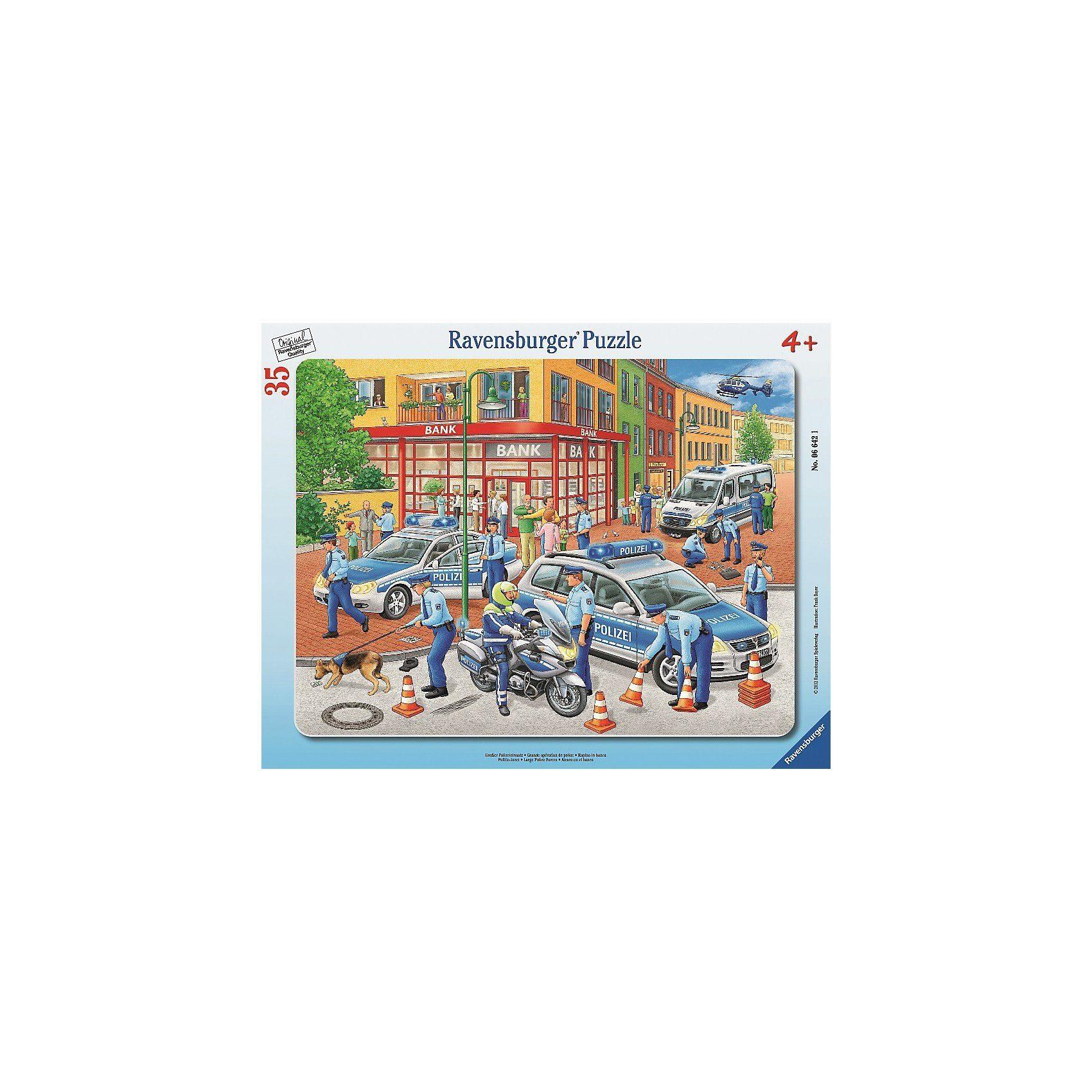 Ravensburger Rahmenpuzzle 35 Teile - Großer Polizeieinsatz