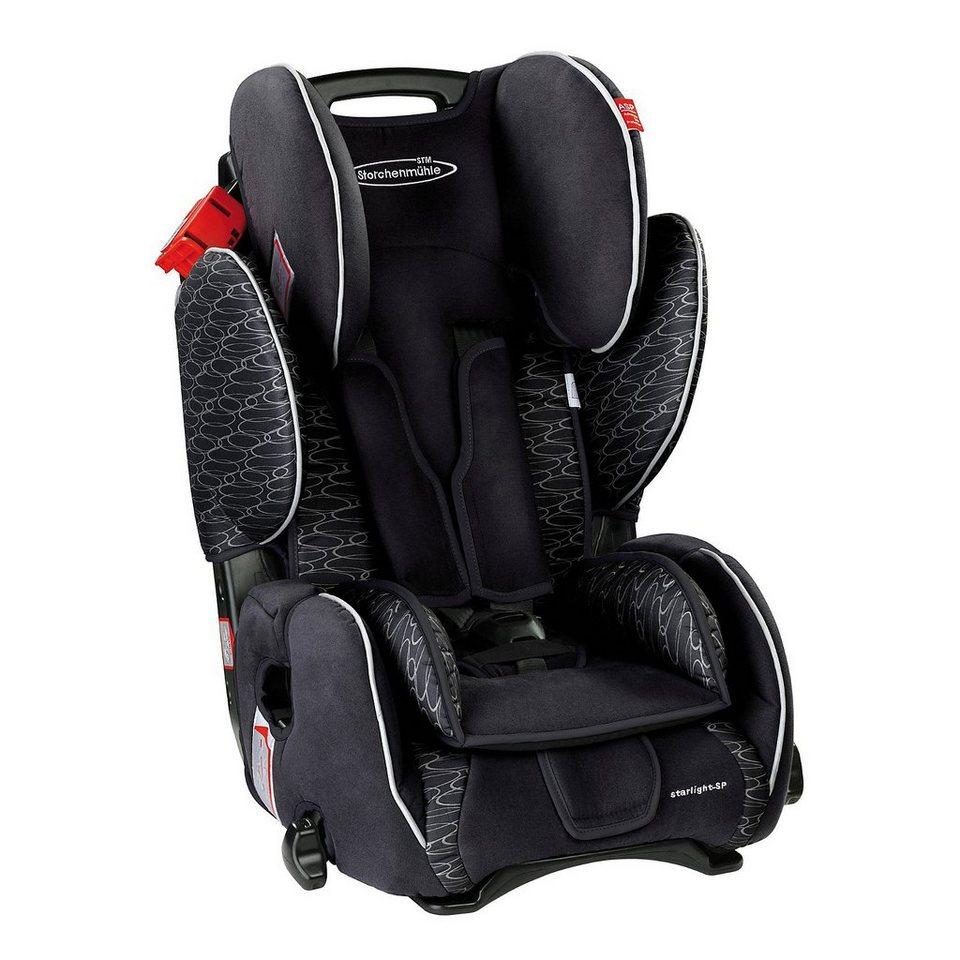 Storchenmühle Auto-Kindersitz Starlight SP, Midnight in schwarz