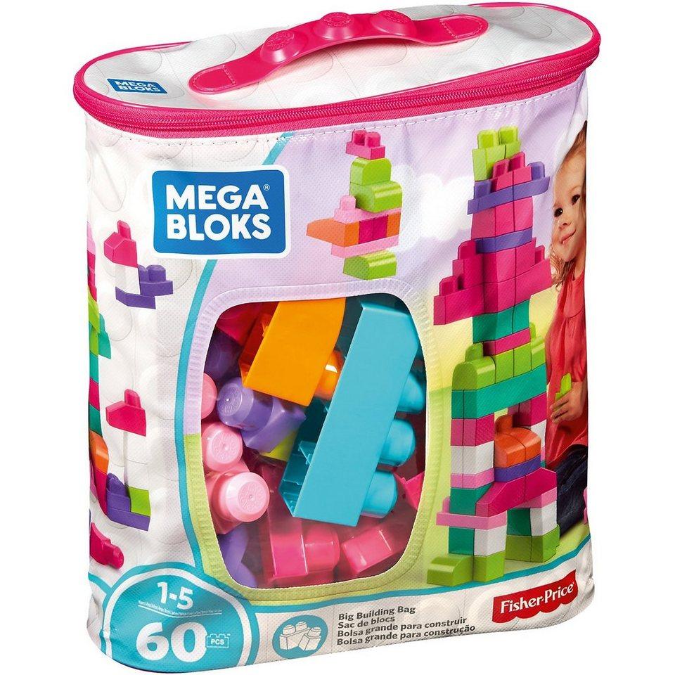 MEGA BLOKS First Builders Bausteinebeutel Medium, 60 Teile - pinkfarben
