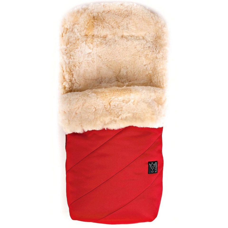 Kaiser Fußsack PAAT mit Lammfell, rot