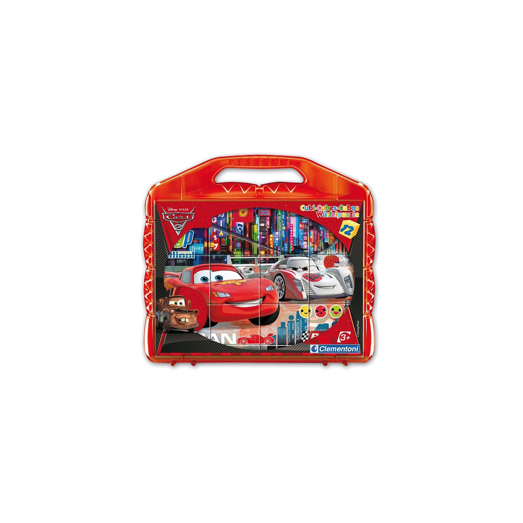 Clementoni Würfelpuzzle - 12er Cars 2