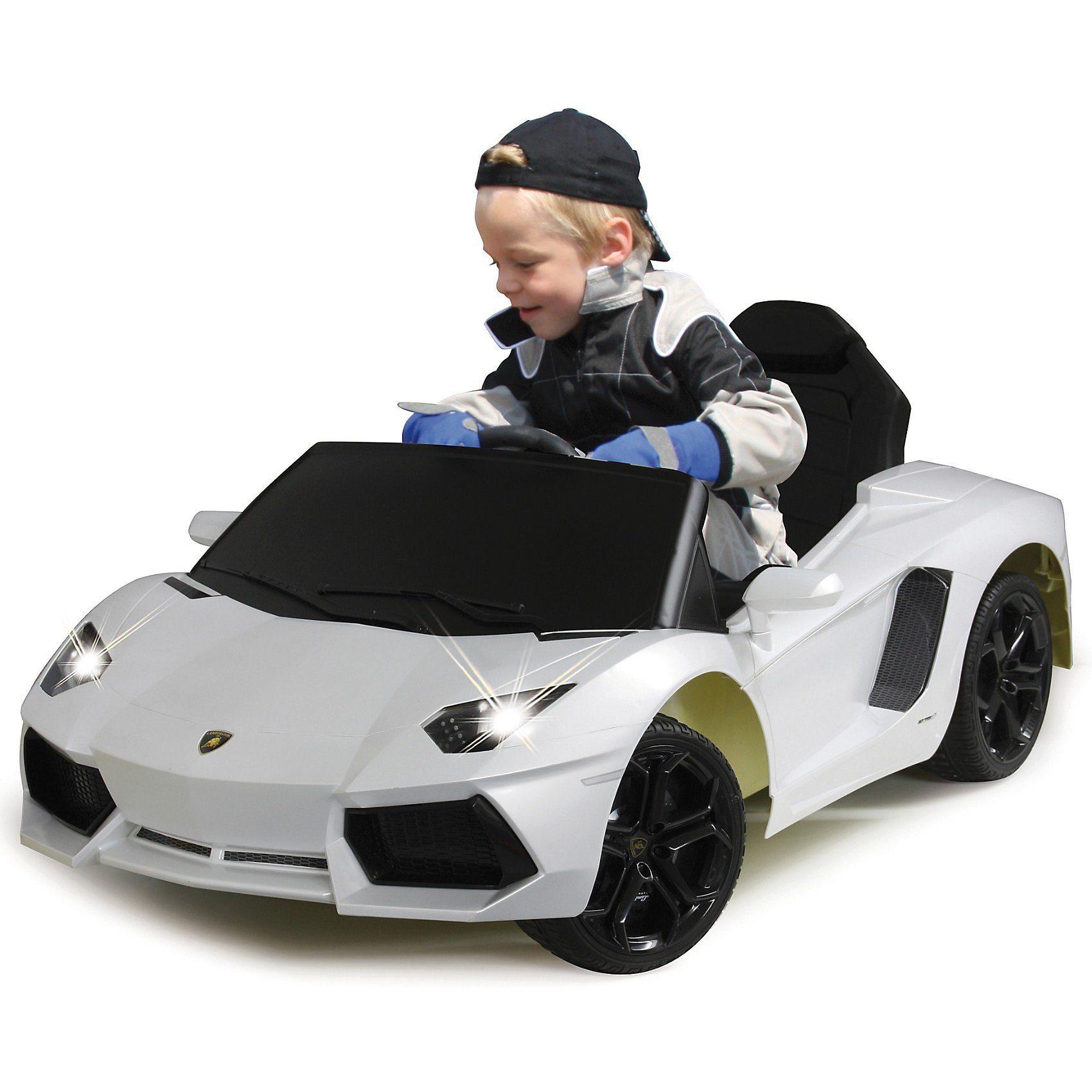 Jamara Elektrofahrzeug Ride-on Lamborghini Aventador perlweiß 40MHz