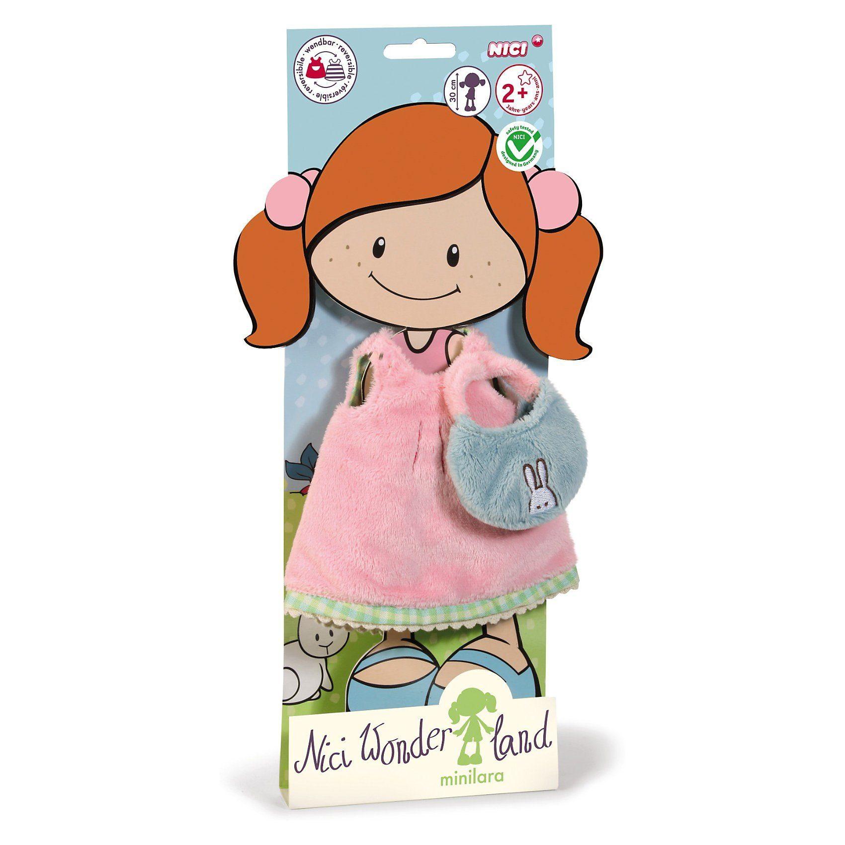 NICI Puppenkleidung Kurzes Kleid mit Handtasche, 30 cm