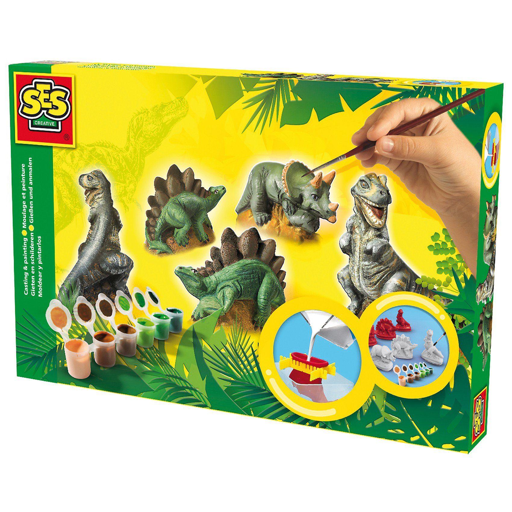 SES Creative Kreativset Dinosaurier gießen