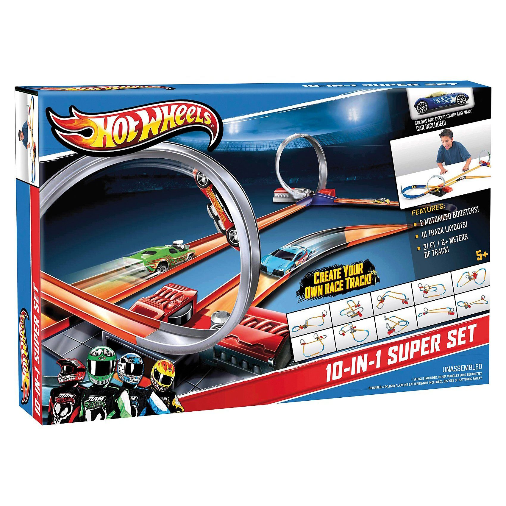 Mattel Hot Wheels 10-in-1 Superset
