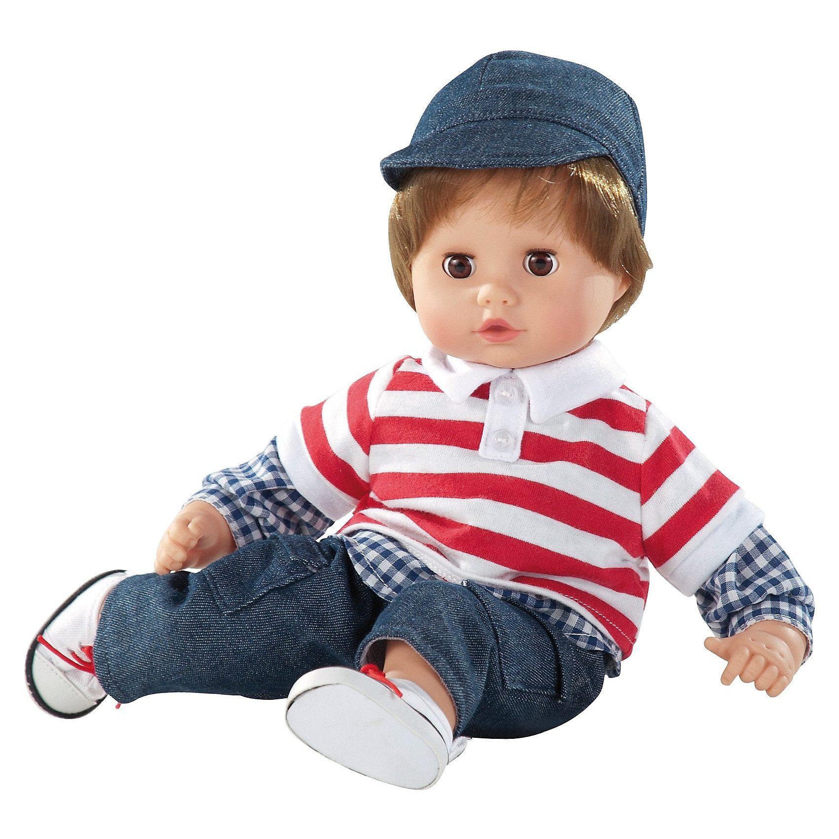 Götz Babypuppe Muffin Junge, braune Haare, 33 cm