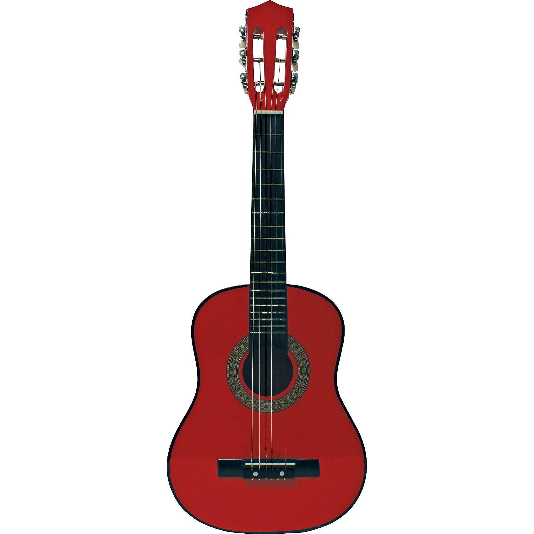 Eitech Gitarre professionell - rot 76 cm, inkl. Tasche und Gitarren