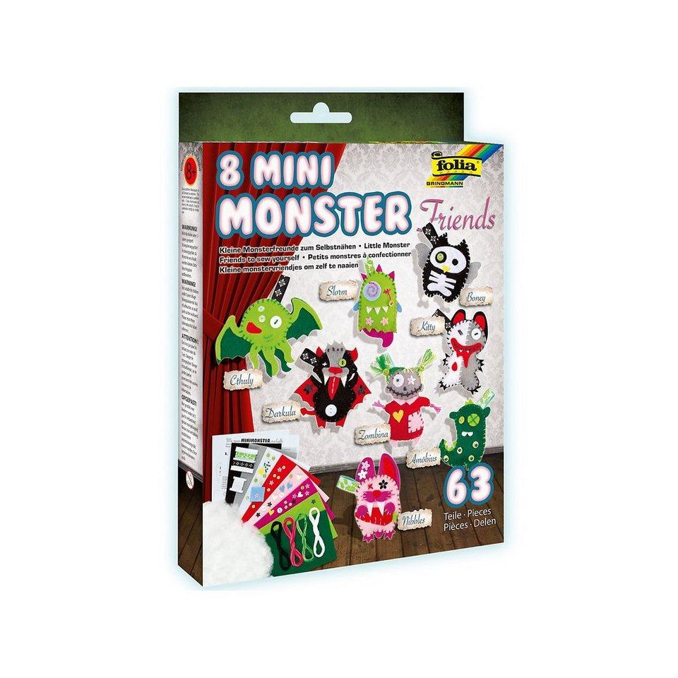 Folia Filzbastelset Mini Monster Friends, 8 Stück