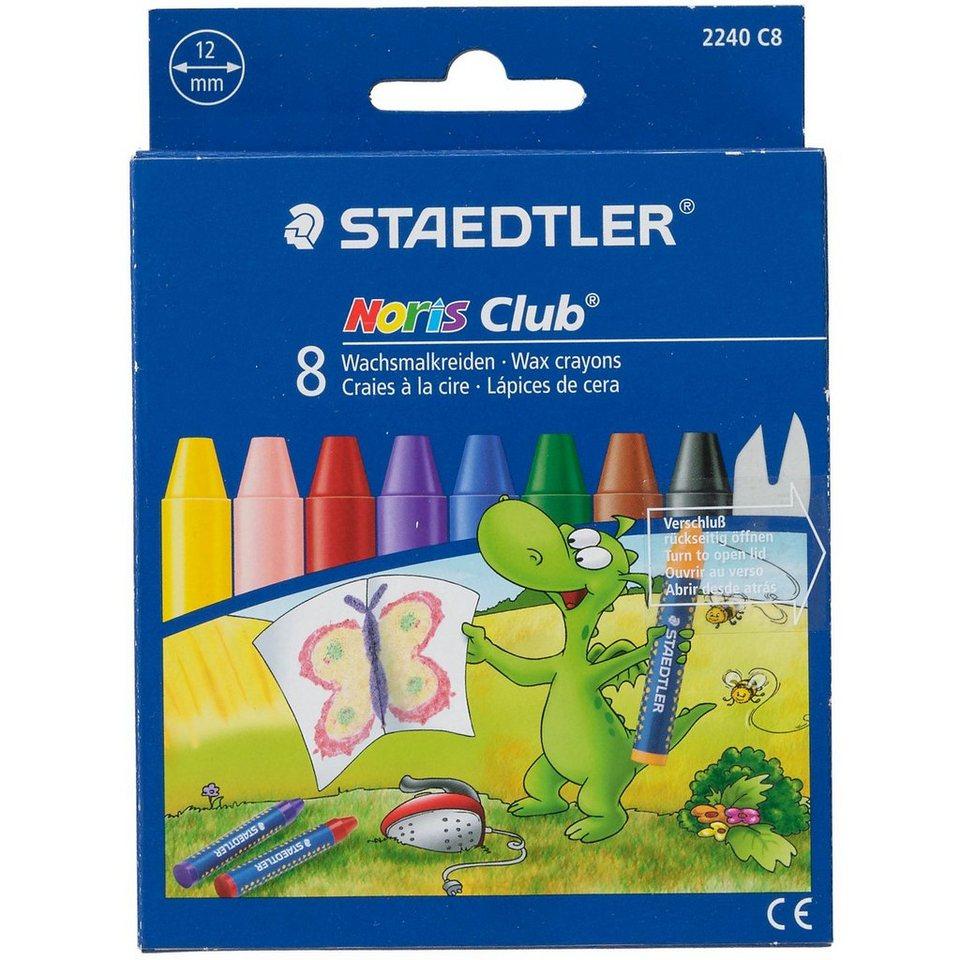 Staedtler NORIS Club Wachsmalkreide, 8 Farben