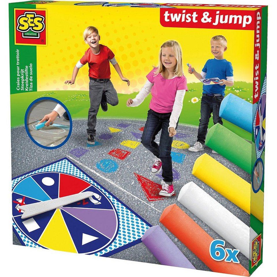 SES Creative 02242 Straßenkreide Spiel Twist & Jump