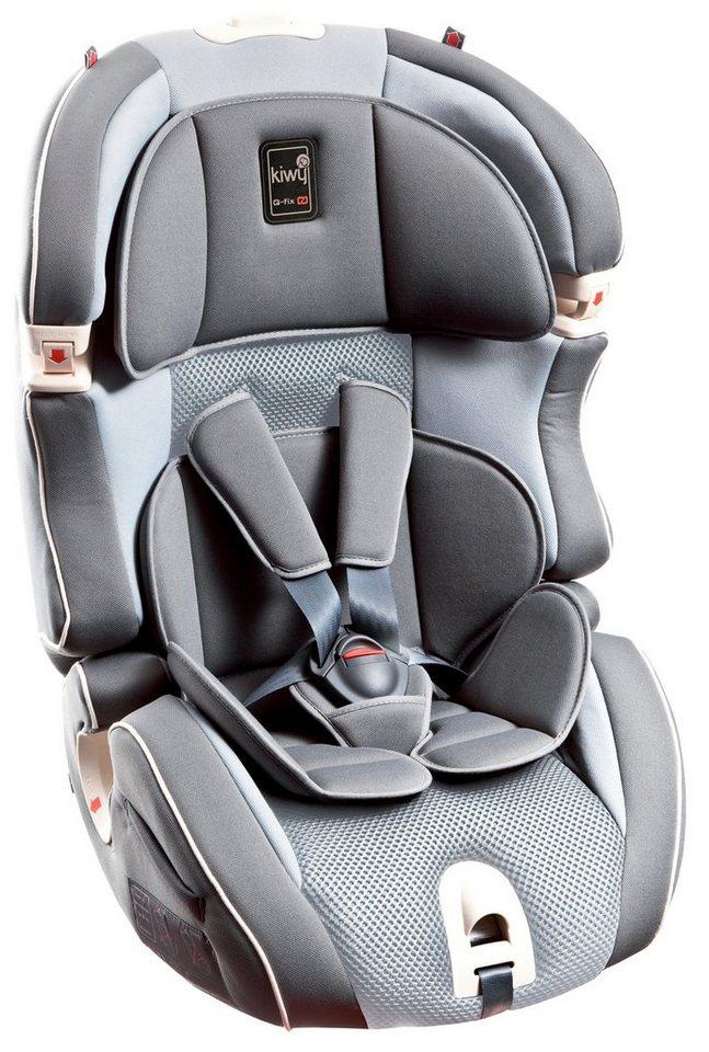 Kiwy Kindersitz »kiwy SLF123 mit Q-Fix Adapter für Isofix Haltepunkt im Auto, stone« in grau
