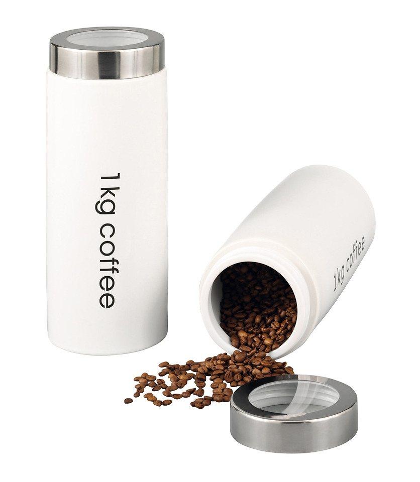Kaffeedose, 1 kg in weiß