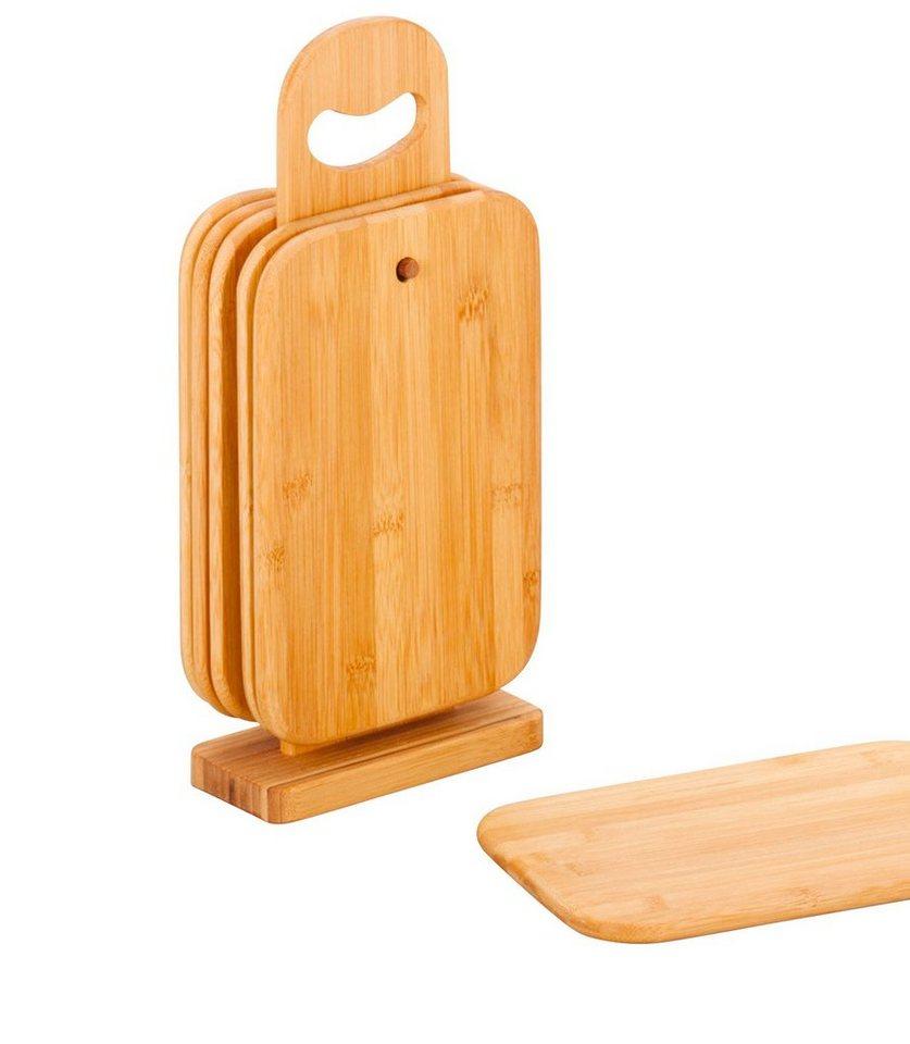 Brettchenständer »Bamboo«, 7-tlg. in braun / holzoptik