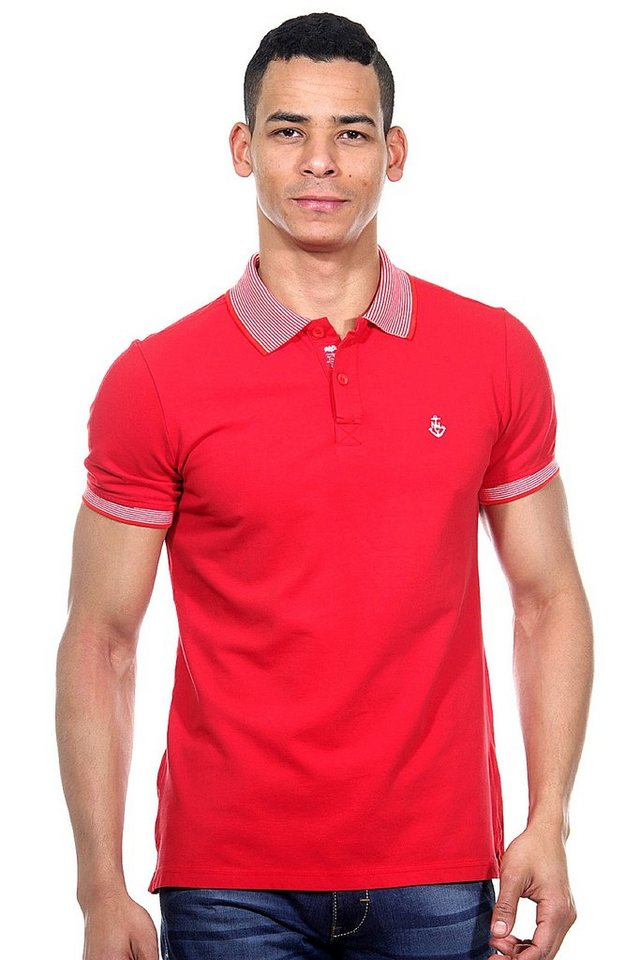 MCL Poloshirt slim fit in rot