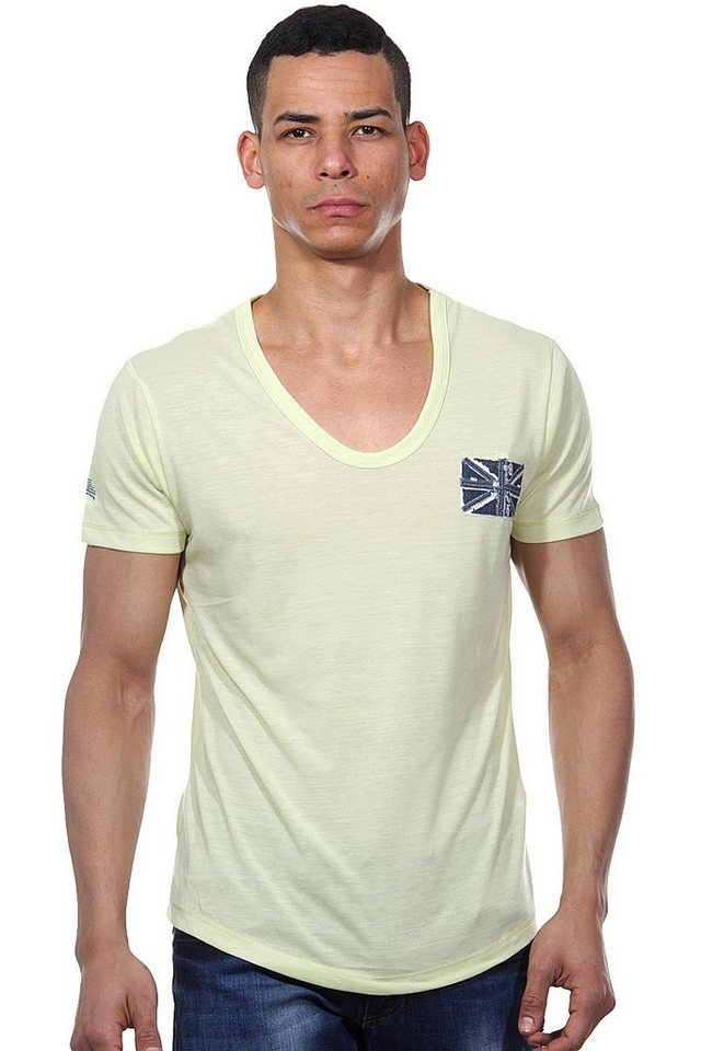 MCL T-Shirt V-Ausschnitt regular fit in kiwi