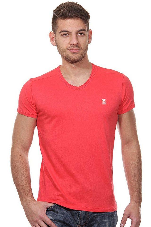 MCL T-Shirt V-Ausschnitt slim fit in pink