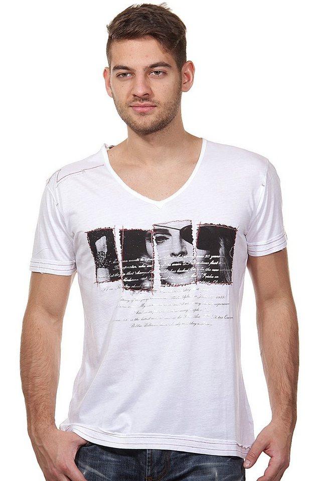 MCL T-Shirt V-Ausschnitt slim fit in weiss