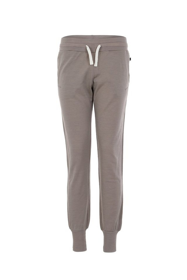 Super.Natural Merino Hose »W CUFFED TRAINING PANT 220« in VINTAGE KHAKI/LATTE