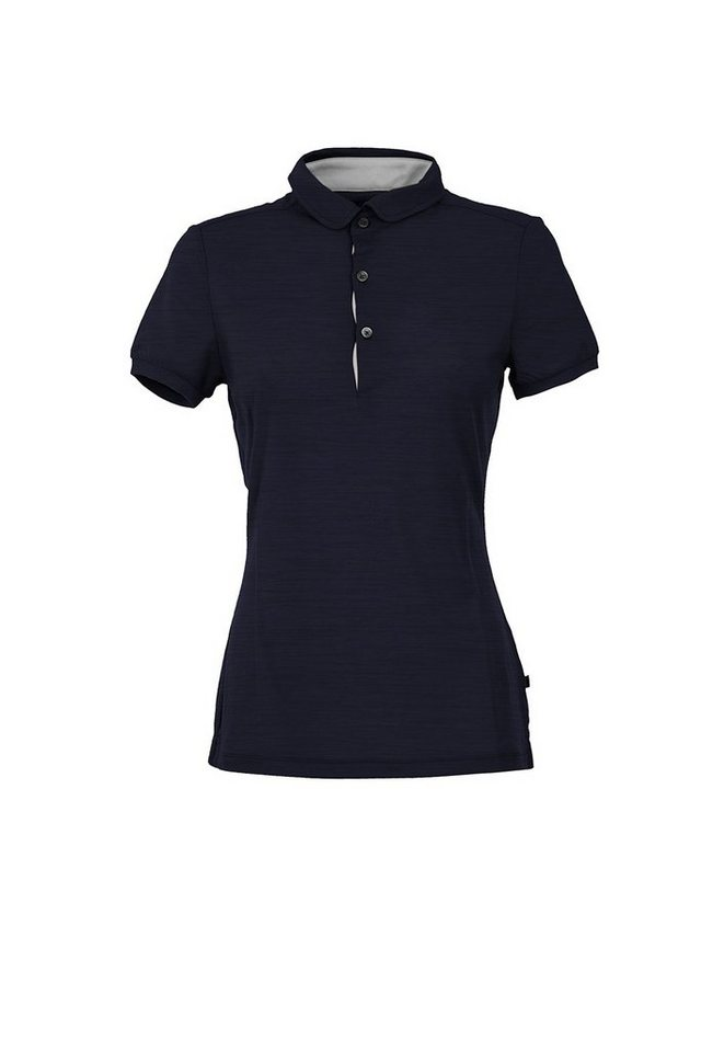 Super.Natural Merino Poloshirt »W POLO 175« in BLUE NIGHTS/MOONSTRU