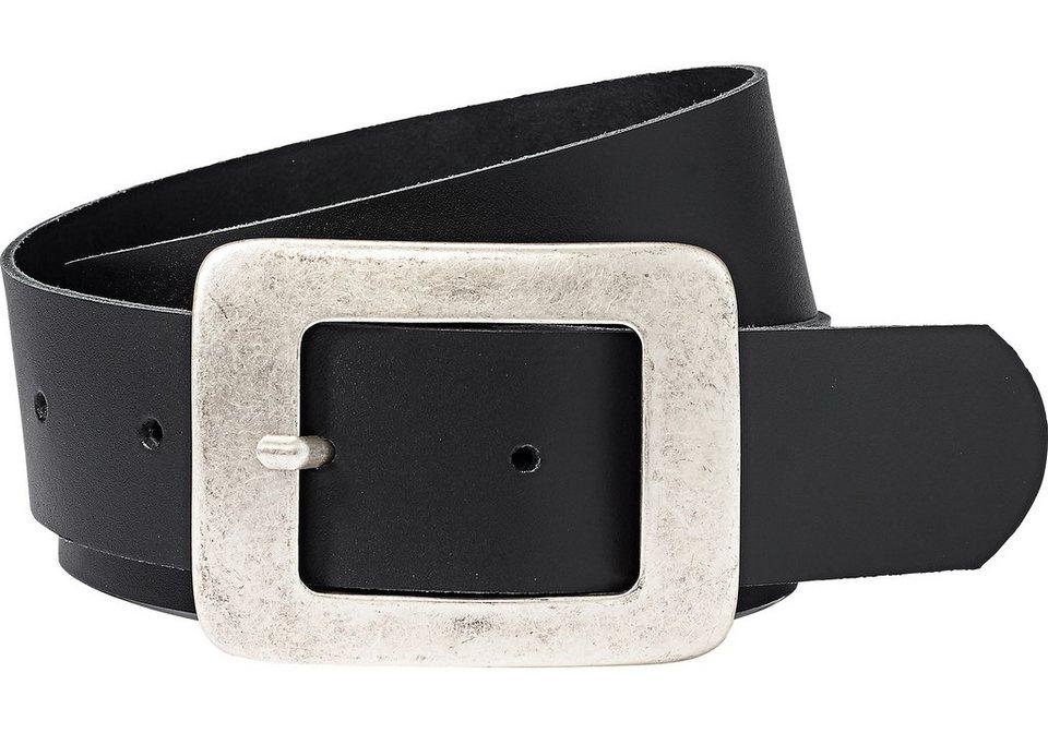 sheego XL-Ledergürtel in schwarz