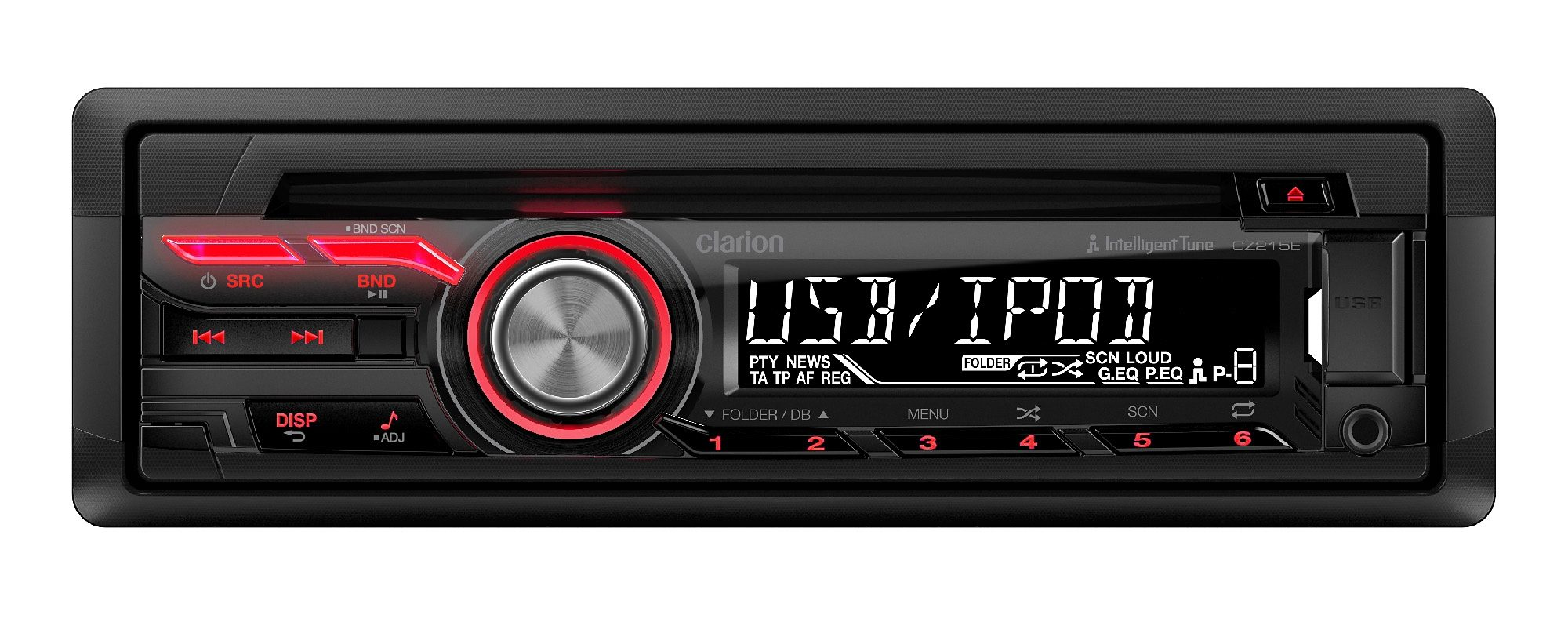 Clarion 1-DIN CD/USB-Receiver »CZ215E«