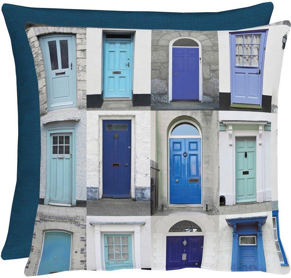 Kissen, Apelt, »3046 Fenster« (1 Stück) in blau