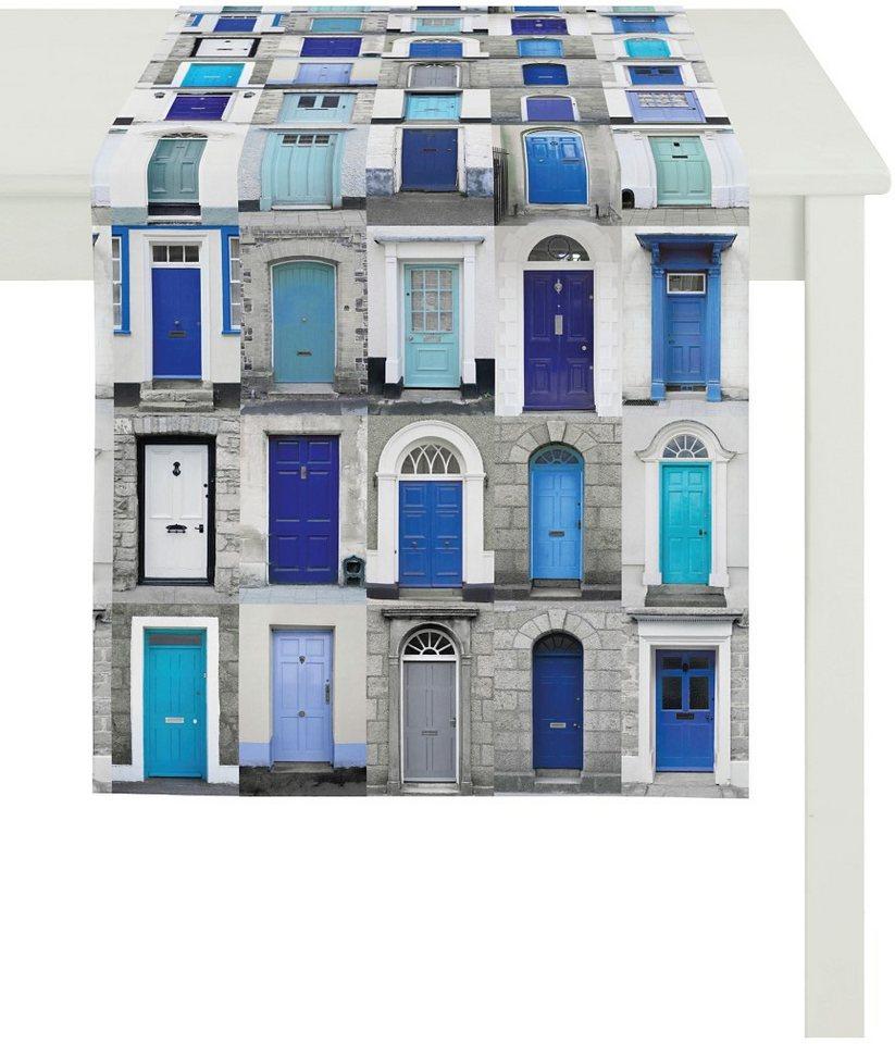 Tischläufer, Apelt, »3046 Fenster« in blau