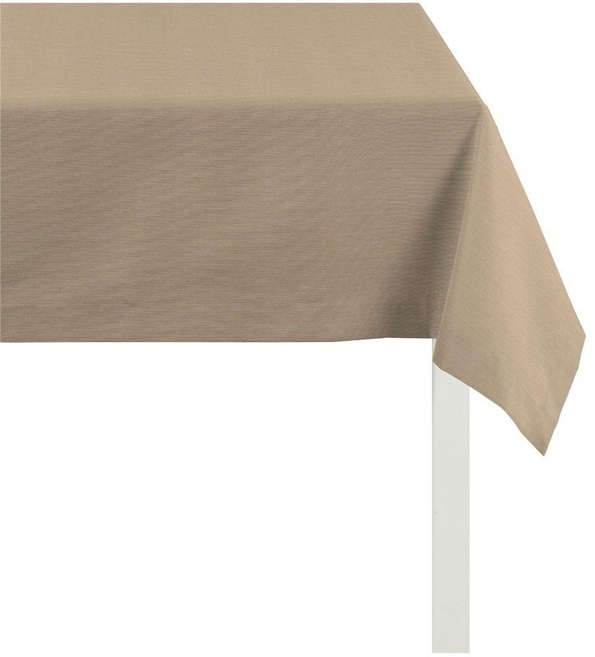 Mitteldecke, Apelt, »TIZIAN Uni Rips« in beige