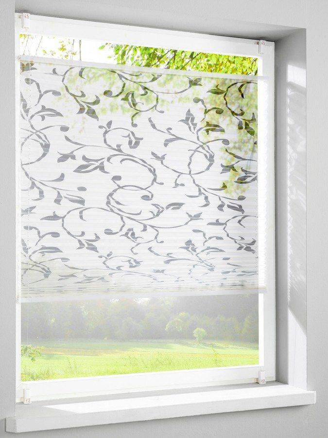 home wohnideen plissee faltenstor mit blumenmuster otto. Black Bedroom Furniture Sets. Home Design Ideas