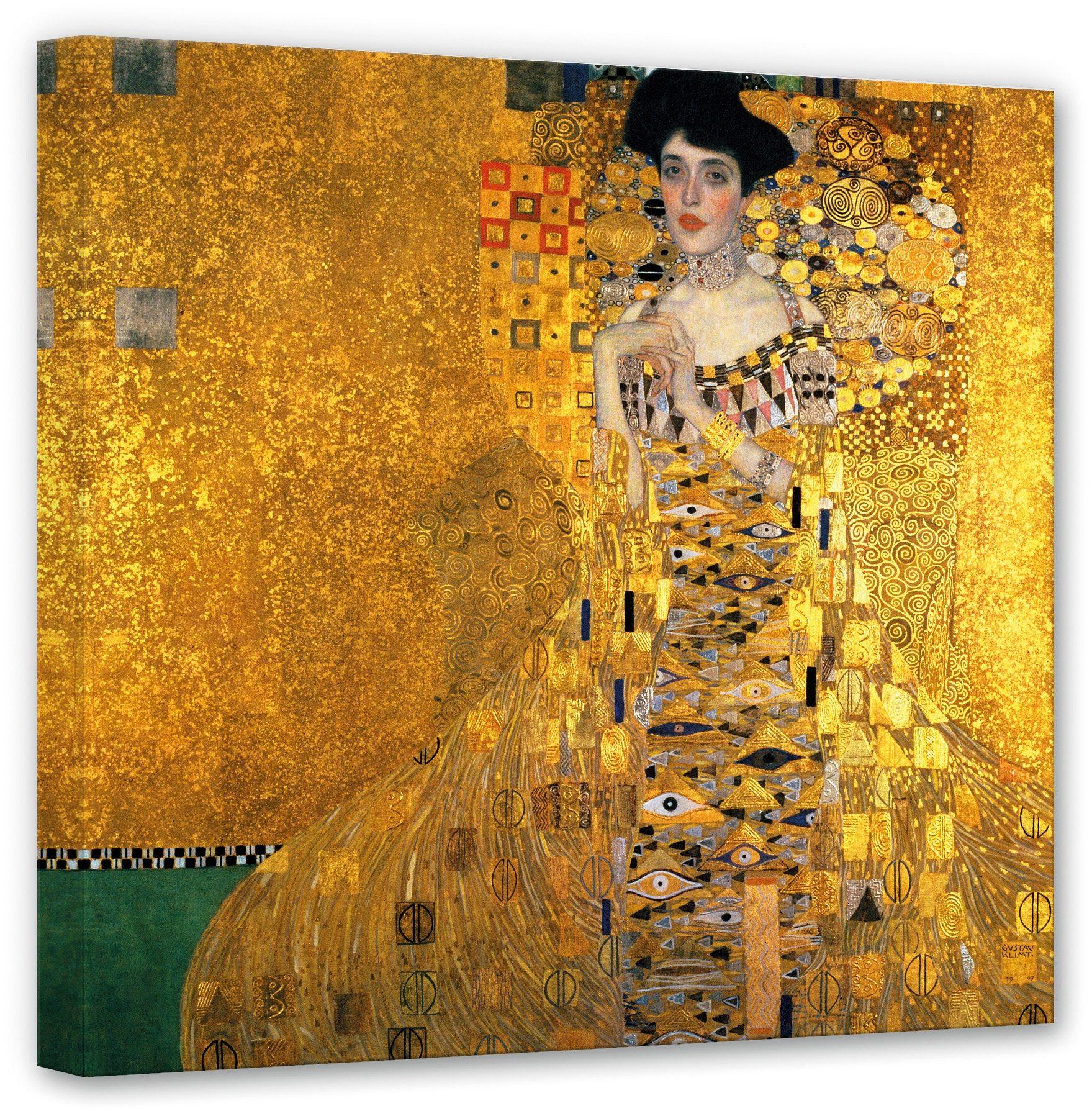Premium Collection by Home affaire, Leinwandbild» Klimt - Bildnis der Adele Bloch-Bauer«, 70/70 cm