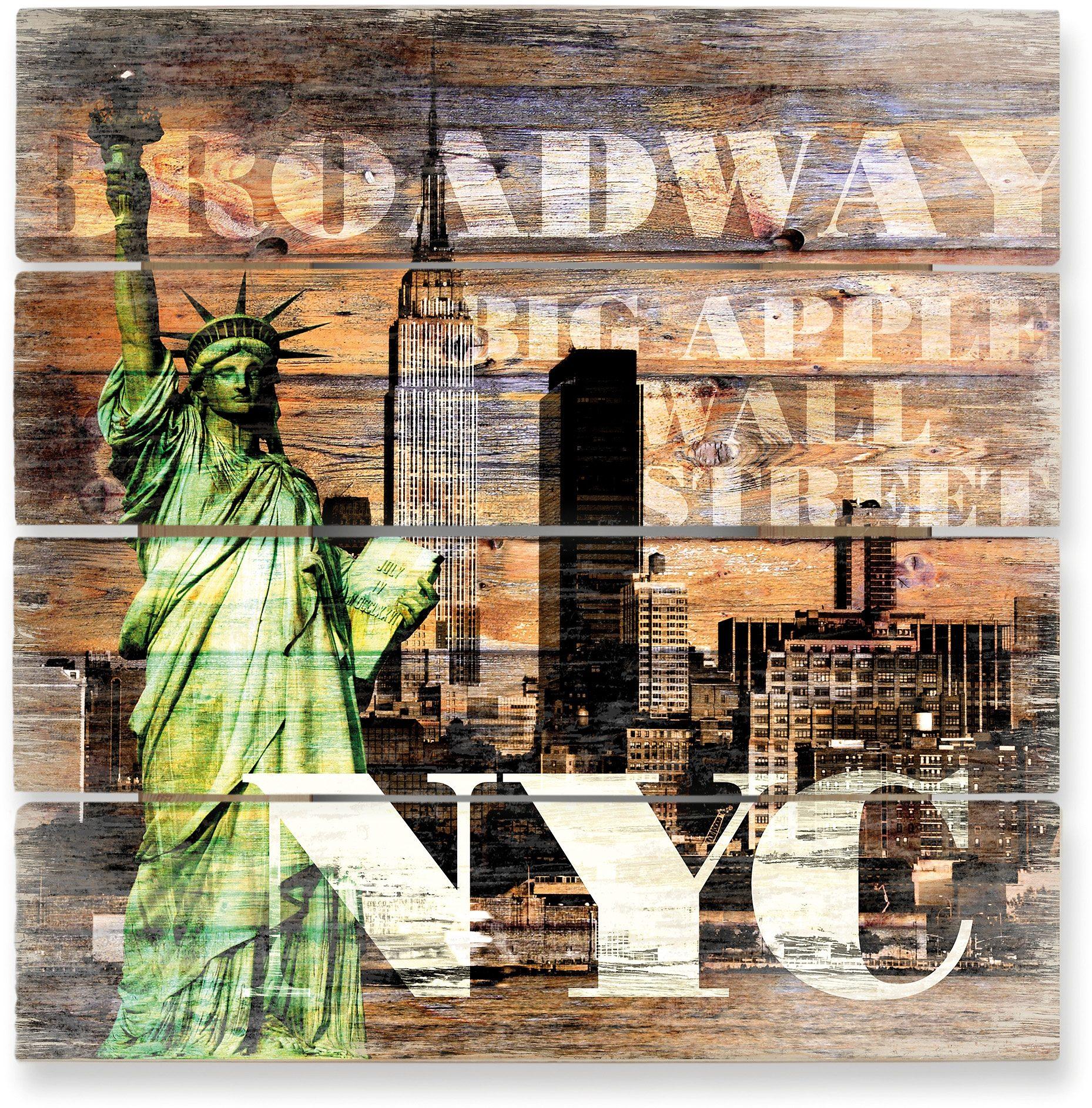 Holzbild, Home affaire, »New York Szenerie«, 40/41,5 cm